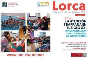 Participación en el Curso de verano : la Atención temprana en el siglo XXI de la Universidad de Murcia ( en sus cursos de verano de la Universidad del Mar)